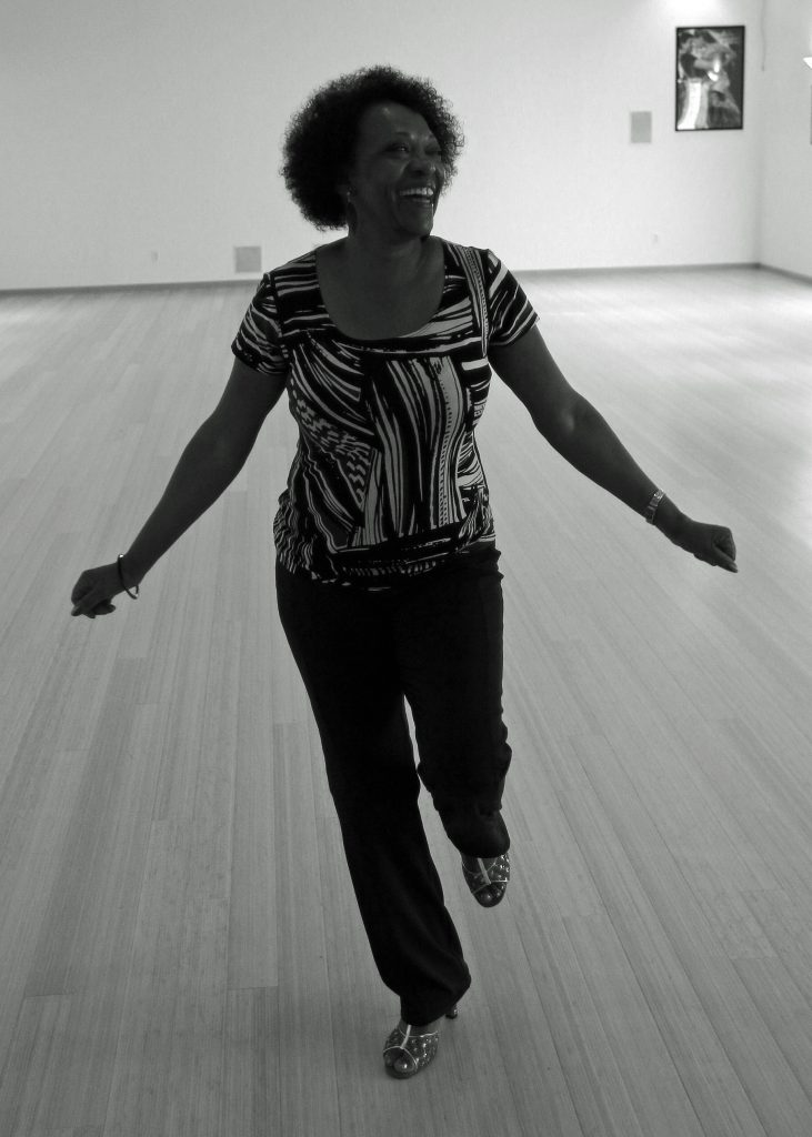 Dove in her dance studio, adjacent to her home. Photo by William Walsh.