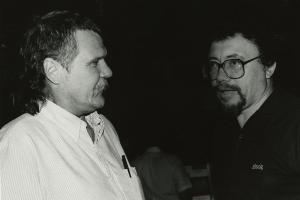 Harry Crews and Raymond Andrews, 1985. Photo by Ashton Graham.