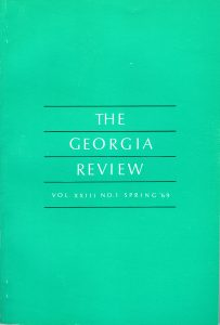 Cover of Spring 1969