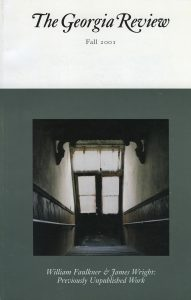 Cover of Fall 2001