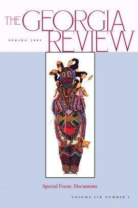 Georgia Review cover Spring 05