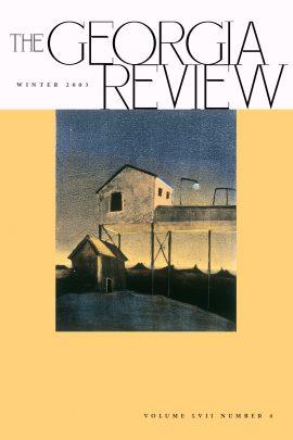 Georgia Review cover winter 03