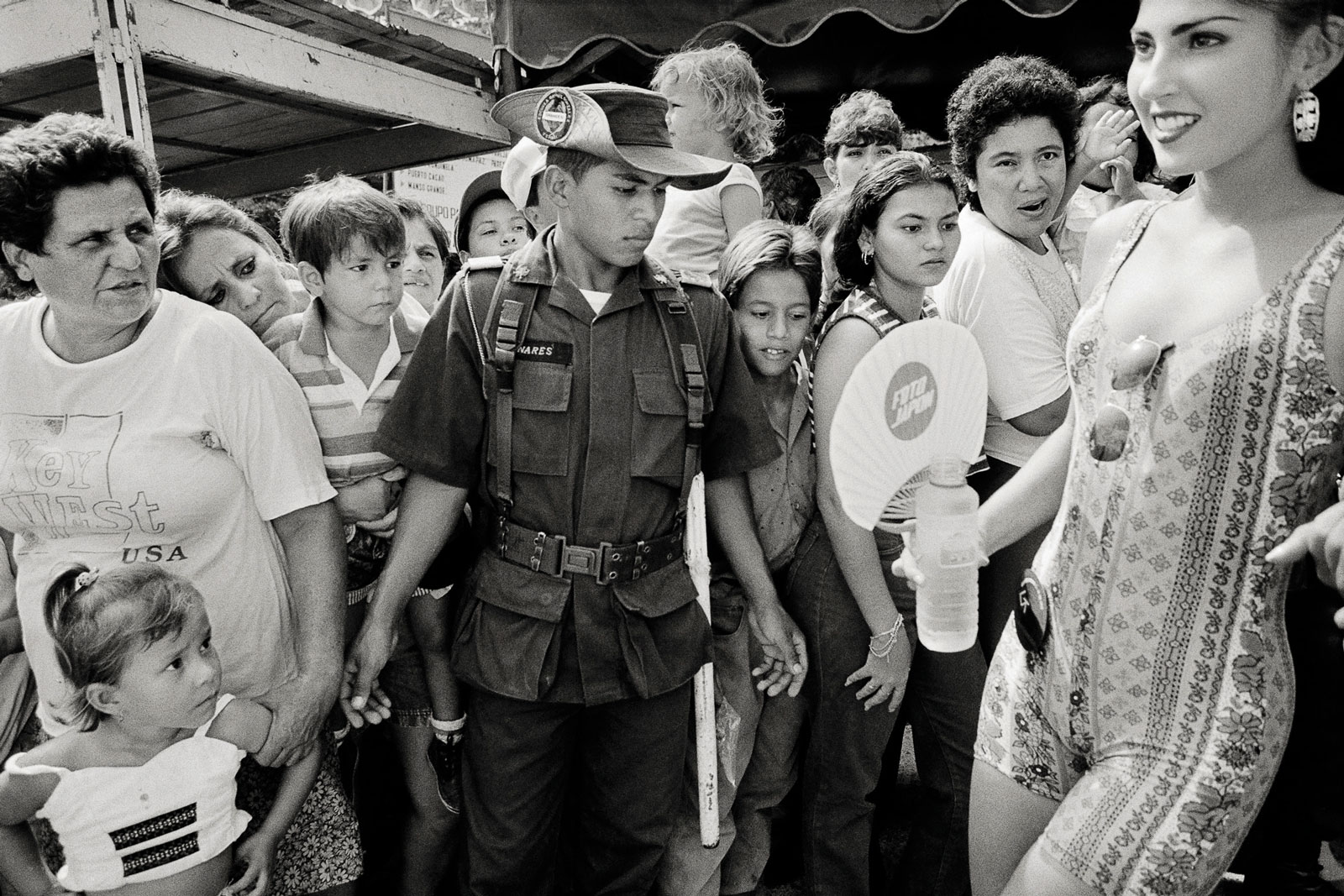 <i>Scrutiny</i> (1995) A candidate for national Miss Tourism passes through the crowd in Girardot.