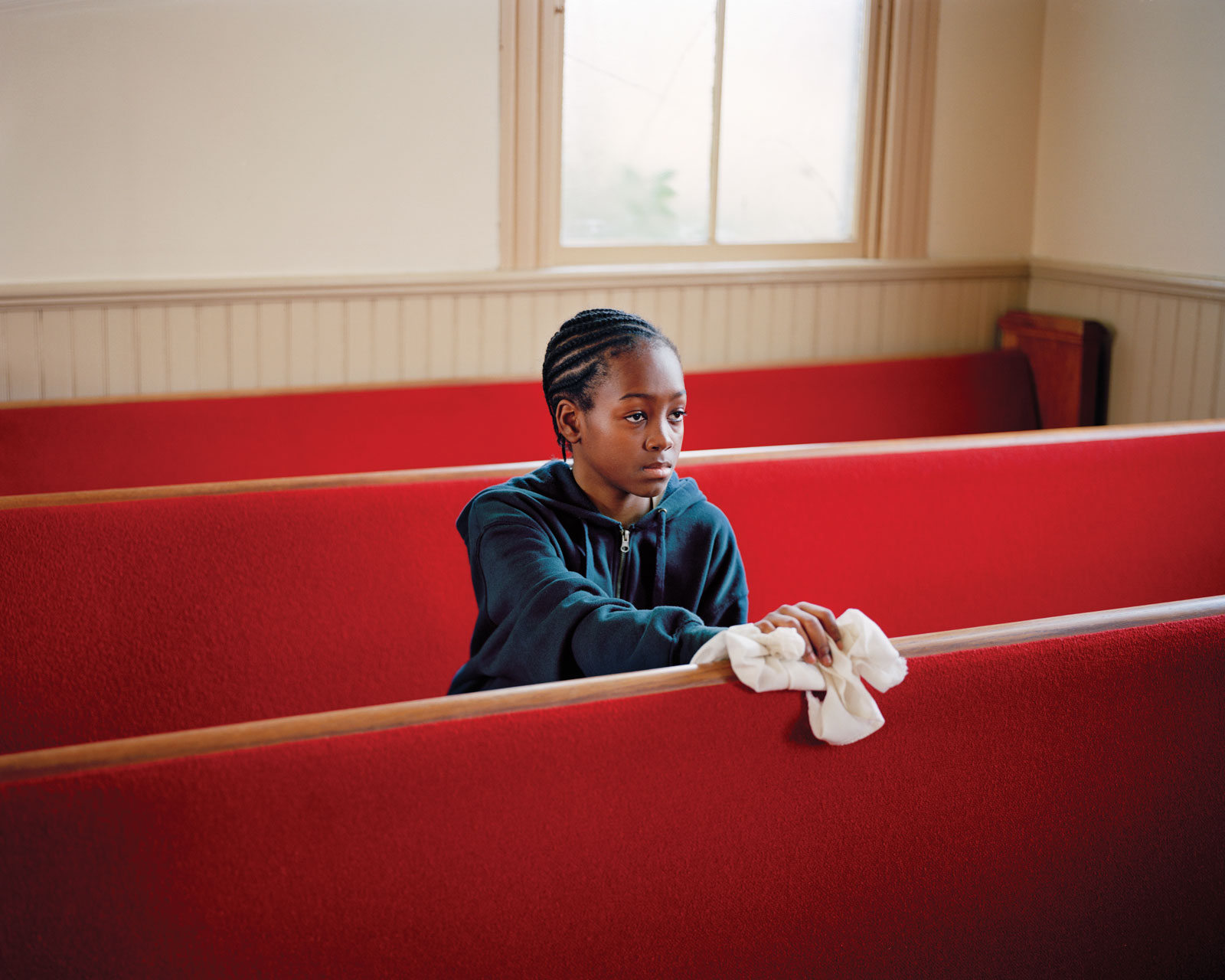 <i>Young Boy Cleaning Church, VA</i> (2011) by Susan Worsham