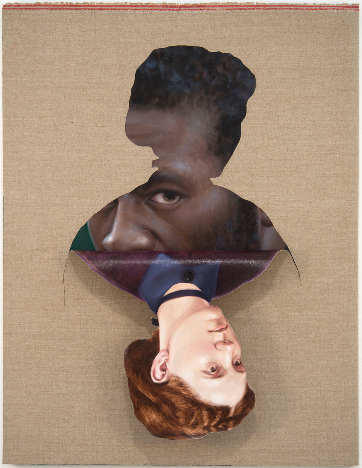 <i>Falling from the Gaze</i> (2014), 48 1/4˝ × 37 3/4˝ × 1 1/2˝, oil on canvas