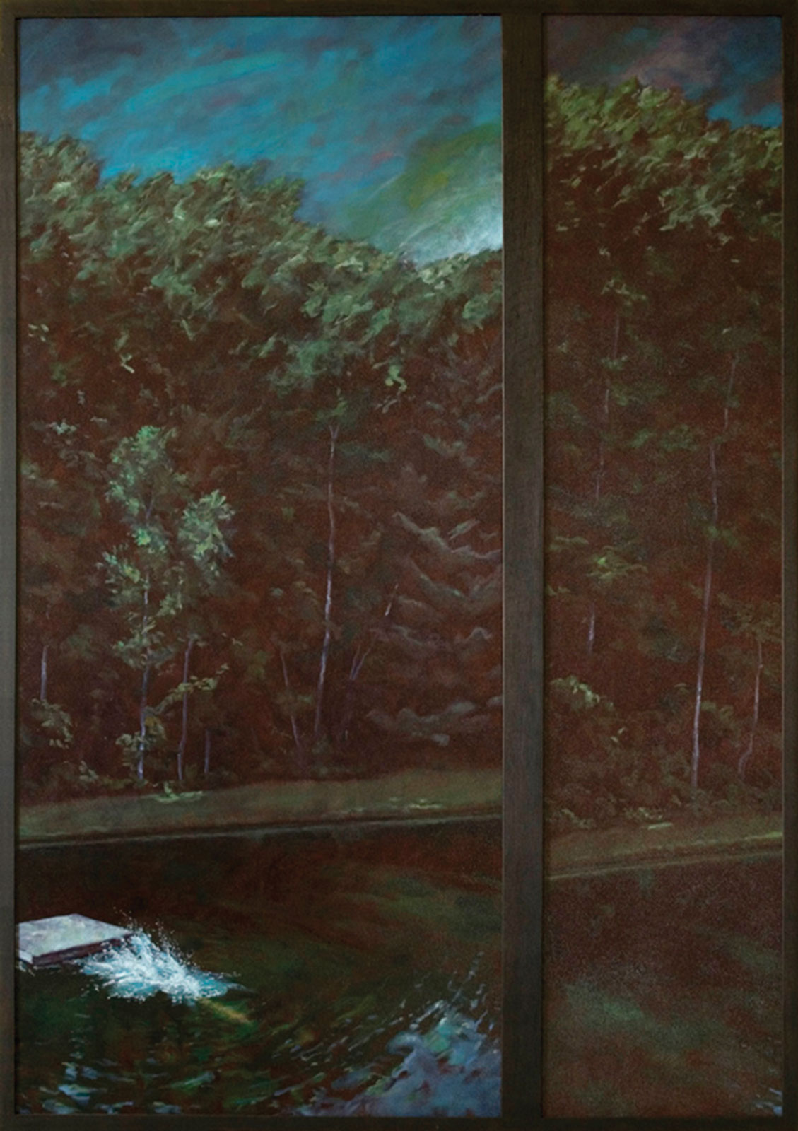 <i>Diver (Diptych)</i> (2004), 52˝× 29˝, oil on canvas