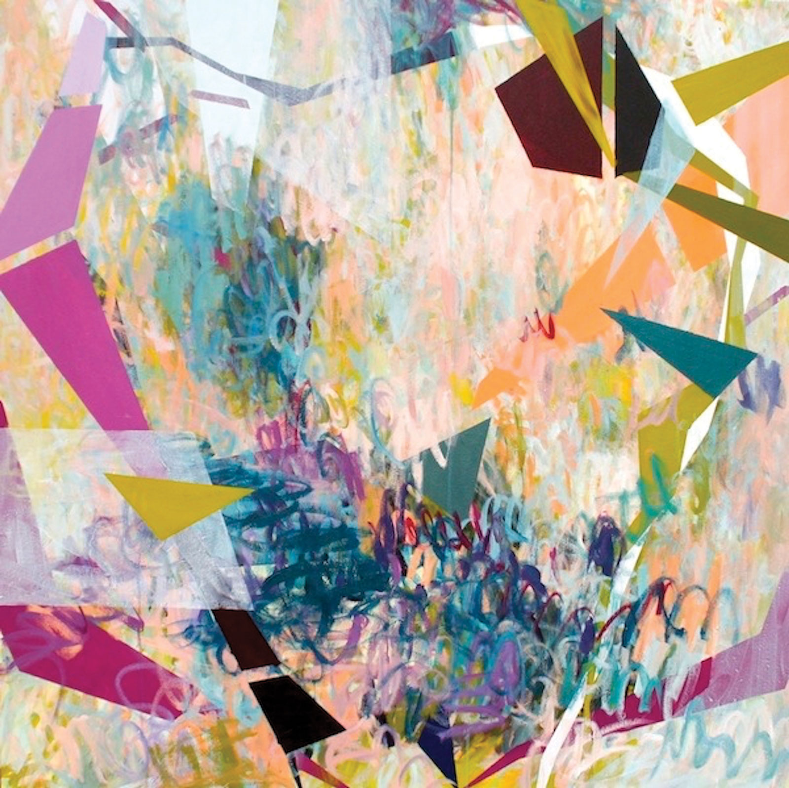 <i>Confetti Bomb</i> (2013), acrylic on canvas, 48˝ × 48˝