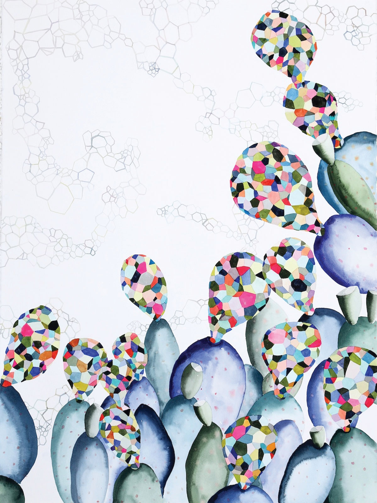 <i>Hybrid II</i> (2015), watercolor on paper, 22˝ × 30˝