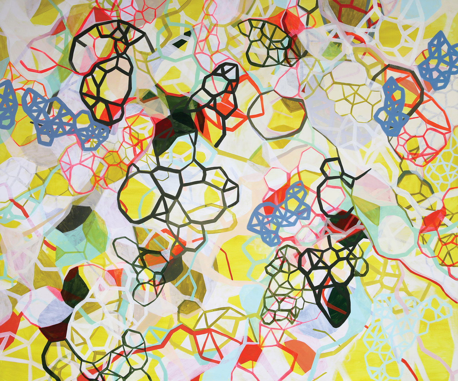 <i>Isotropic Yellow</i> (2014), acrylic on canvas, 72˝ × 60˝