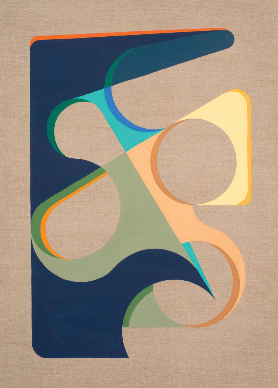 <i>Holding Pattern #2</i> (2013), 45˝ × 28˝