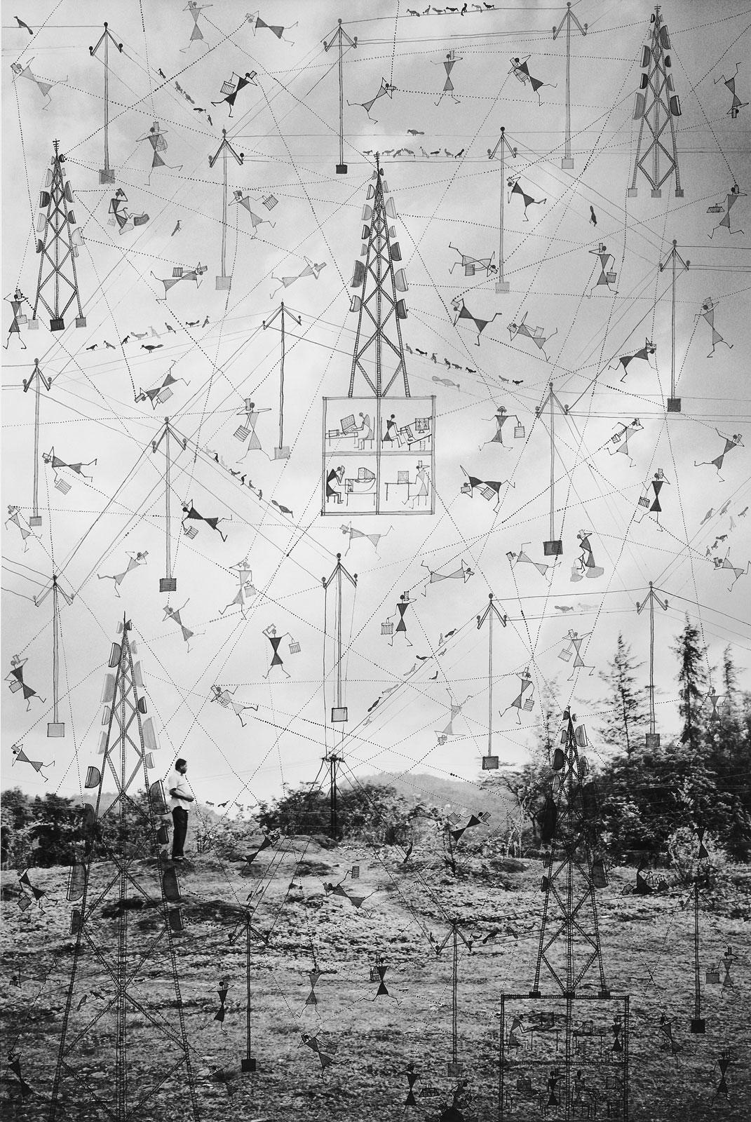 <i>Paths through Air</i> (2015), 42˝ × 28˝